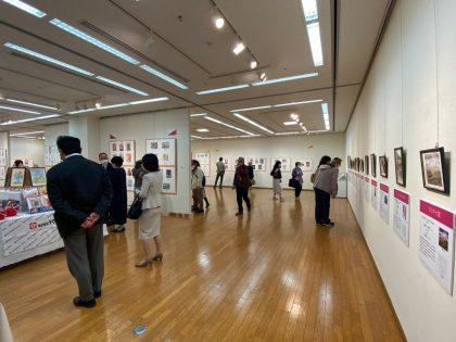 第15回大人の塗り絵コンテスト展覧会の様子